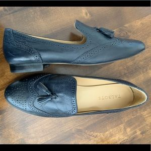 Talbots Frannie spectator leather loafers